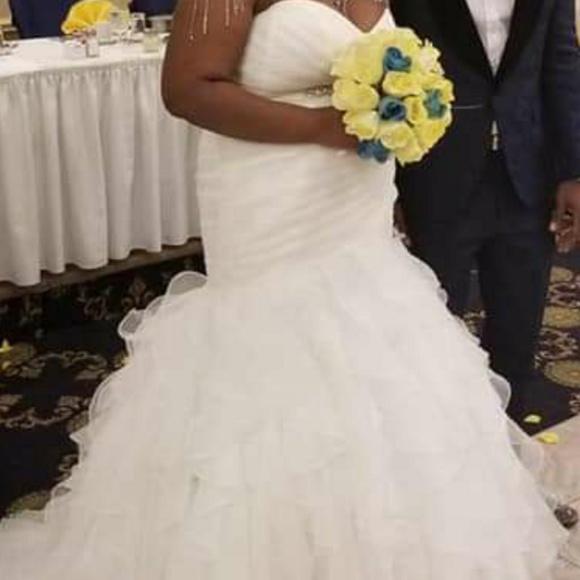 David's Bridal Dresses & Skirts - Selling my wedding dress underskirt belt and tiara